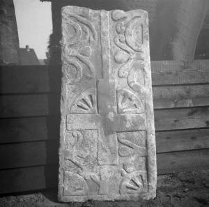 Sarcophagus lid of unknown person(s): upper part