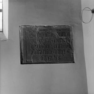 Memorial tablet of Ada, daughter of William, 1st Count of Holland