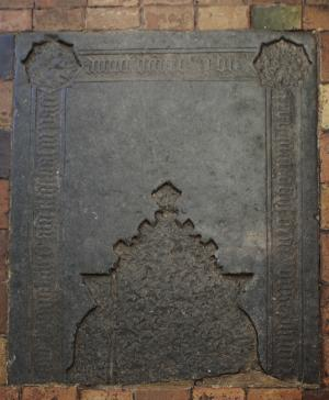 Floor slab of Ghijsbert Willem Raet: upper part of the original stone slab