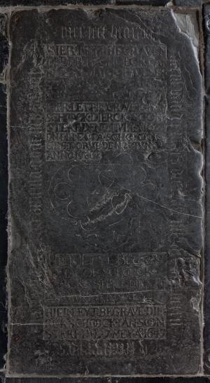 Floor slab of Dirck van der Maes