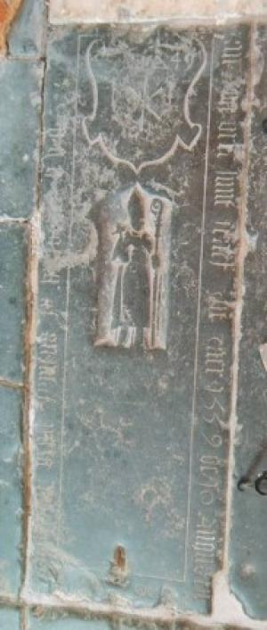 Floor slab of Jan van Vreen and his wife
