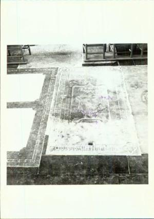 Floor slab of Rickman Wolfs and his wife Grete