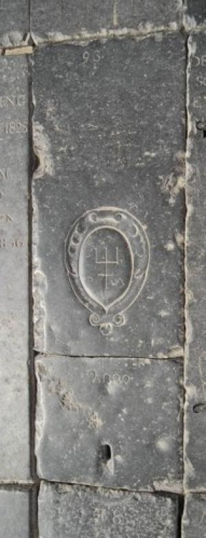 Floor slab of Pieter Aertsz.: slab I