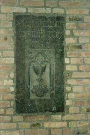 Floor slab of Anselmus van der Zandt
