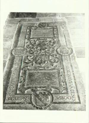 Floor slab of Jacop Mathisz. and his wife Ariaenken