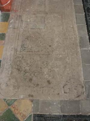 Floor slab of Johan Enthens