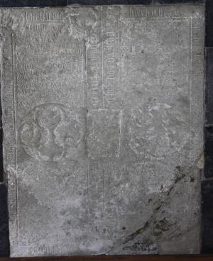 Floor slab of members of the Van Swieten and Van Zijl families
