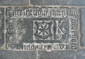Floor slab of Jacob Jansz. van der Hooch