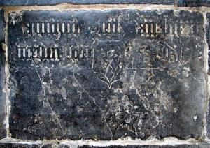 Floor slab of Jannichgen, widow of Dirck Jan Luijten