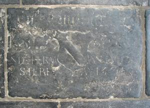 Floor slab of a member of the Van der Heede family and Herman Ludolfsz.