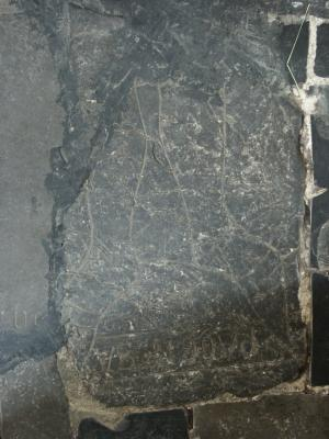 Fragment of a floor slab of an unknown knight