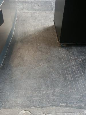 Floor slab of Wernerus de Gressenich and Wilhelmus de Sancta Margareta