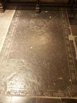 Floor slab of Johannes de Petershem