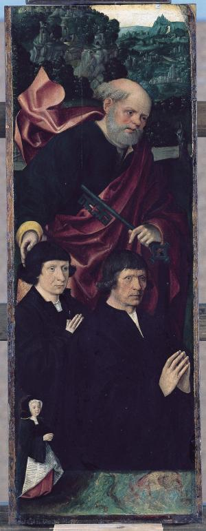 Devotional portraits of an unknown family(?) (interior left wing)