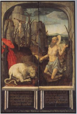 St Jerome in the Desert (closed state)