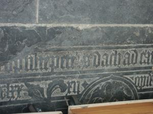 Floor slab of unknown person(s); detail inscription