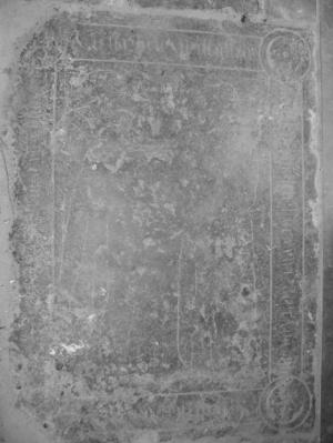 Floor slab of Barbele Christoffels K[...] and her husband