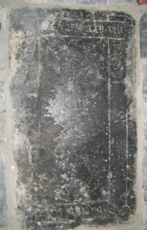 Floor slab of an unknown person