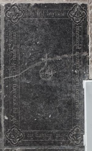 Floor slab of Huybrecht Cornelissen and Cornelie, his wife