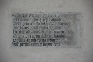 Remnant of a memorial piece of Johannes de Wit