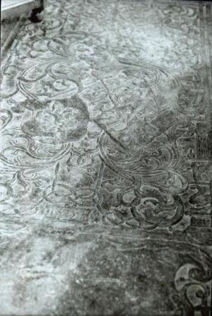 Floor slab of Aesge Hector van Hoxwier and Wick van Dekema, detail heraldry