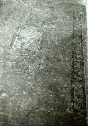 Floor slab of Johannes Weidum