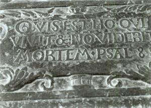 Floor slab of Keimpe van Hottinga: detail inscription below
