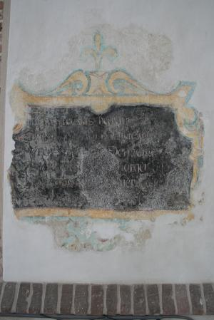 Memorial text to Wybrant Saeckles