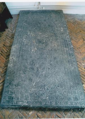 Floor slab of Lisebette, wife of Willem Gillisz.