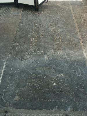 Floor slab of Rudolf Campinck