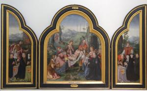 Entombment with devotional portraits of the Van Hogesteyn family (opened state)