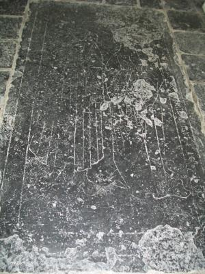 Floor slab of an unknown married couple