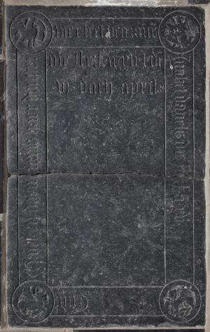 Floor slab of Innghel Daniels and Mayken Daen Nans