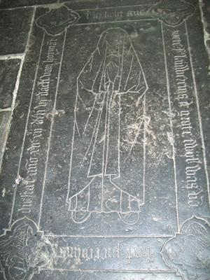 Floor slab of Avezoete, wife of Jan Pietersz. Colins