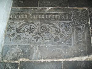Floor slab of Jacomijne and her husband (fragment(s))
