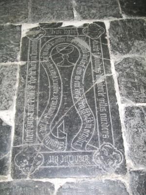 Floor slab of Marie, daughter of Boudin van Abeele, and Vincent de Zaghere