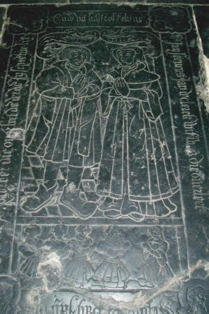 Floor slab of Jan de Clerck, his wife Kasstoffelijne, and their children