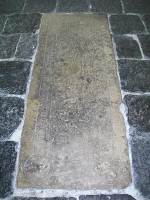 Floor slab of Marie, daughter of Berthelmeeus Batsaert