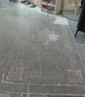 Floor slab of Arend (Arnold) Bokelaer