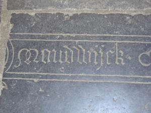 Floor slab of Henricus de Moudwijck - detail