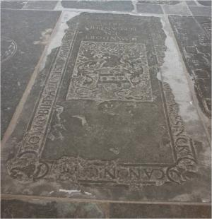 Floor slab of Egberti Luessinck