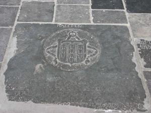 Fragment of a floor slab of Johan Rudde and Anthonis van Haeften