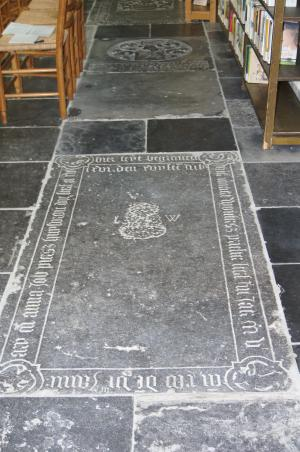 Floor slab of Lenaert Woutersz. and Anna, wife of Job Piersz.