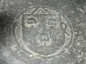 Floor slab of Arnold van 's-Gravesande