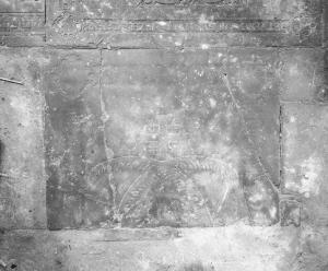 Fragment of a floor slab of unknown pilgrim(s)