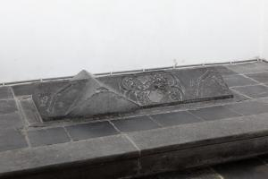 Floor slab of Mathijs Wittesz.: side view