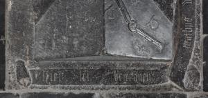 Floor slab of Mathijs Wittesz.: inscription along the top