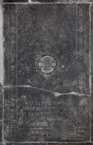 Floor slab of Jacob Cornelis Asschevanger