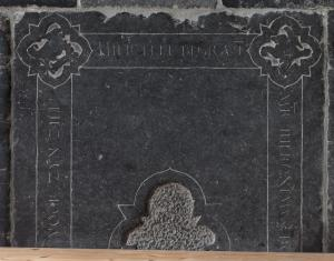 Floor slab of Hieronymus Bouwensz.; detail upper part