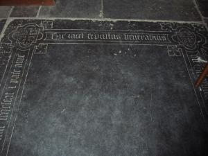 Floor slab of Gerardus Weert, upper half